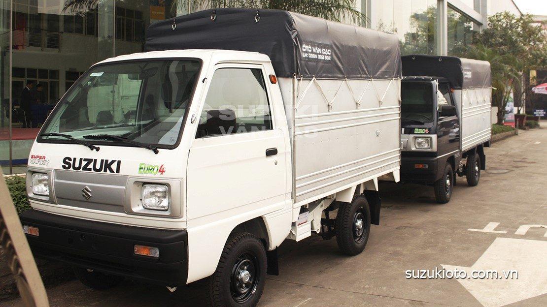 Suzuki 5 tạ thùng mui bạt siêu dài tiêu chuẩn EURO 4