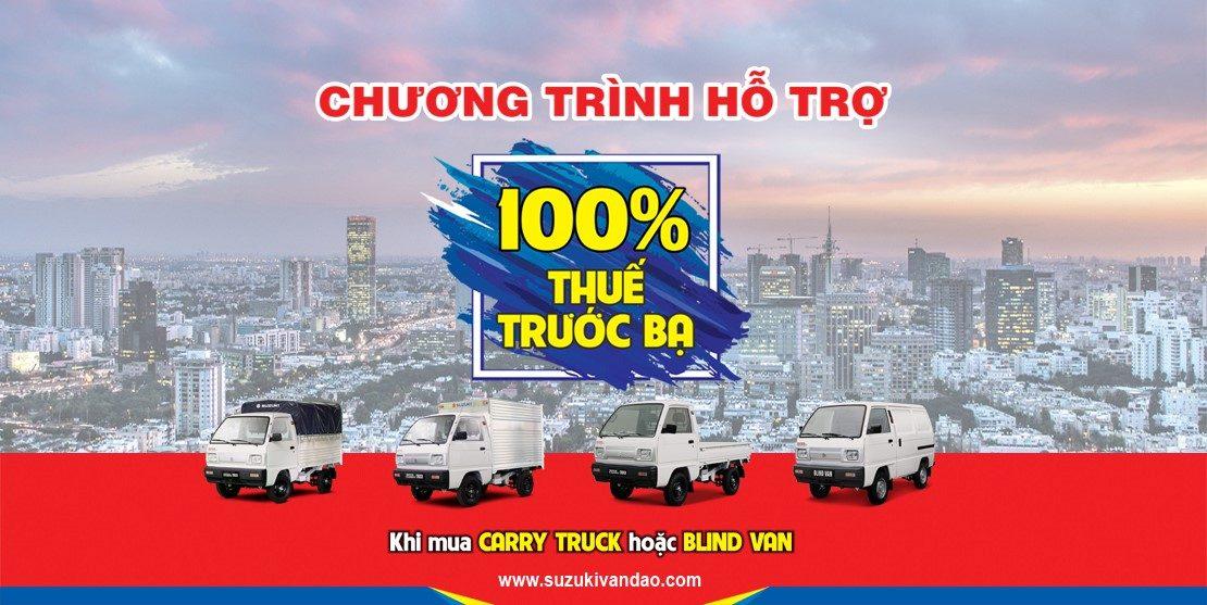 Suzuki Carry Truck khuyến mại 100% thuế trước bạ